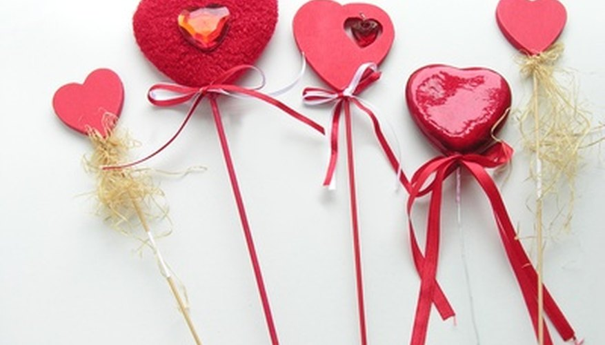 A symbol of love, red hearts are a common theme for Valentine's Day.