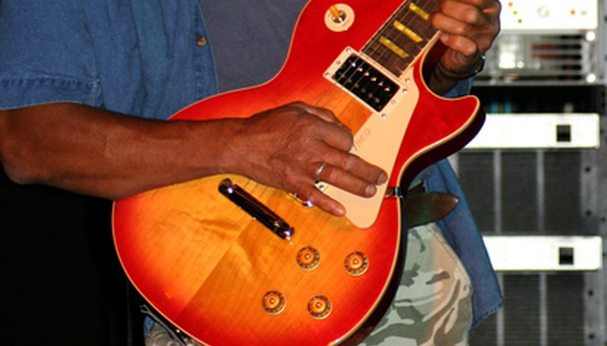 Sunburst is a common finish among Les Paul Standards.