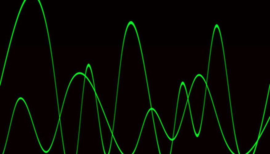 An oscilloscope can display audio from music and speech.