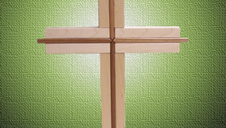 Backlighting a wooden cross with rope lighting allows for a noticeable yet tasteful display.