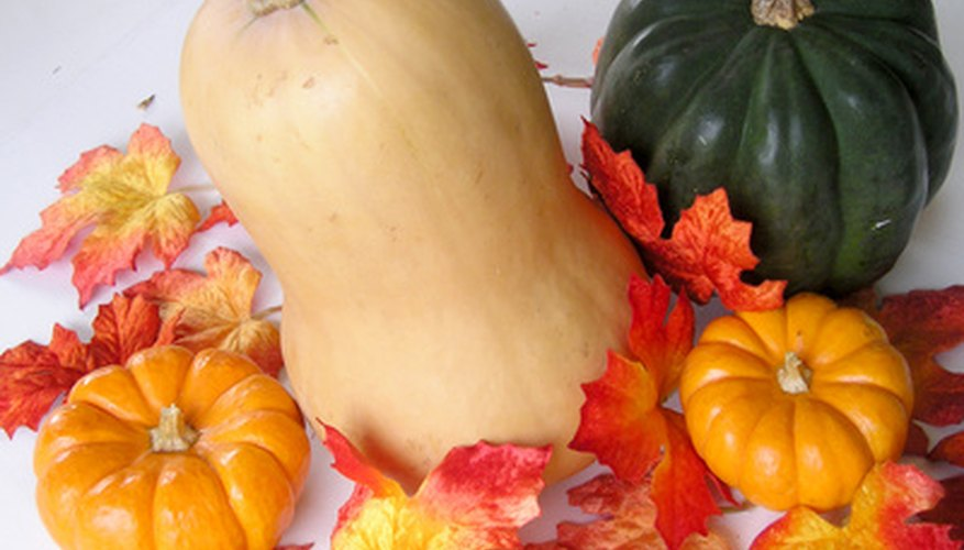 Butternut squash (center)