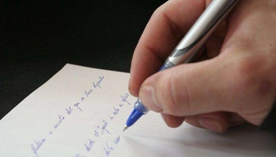 La escritura sirve para provocar cambios.