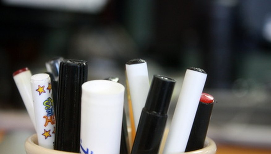 Keep Pens And Other Writing Utensils Together To Make Them Easier Find In The Office