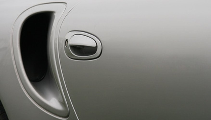 silver car door and air intake