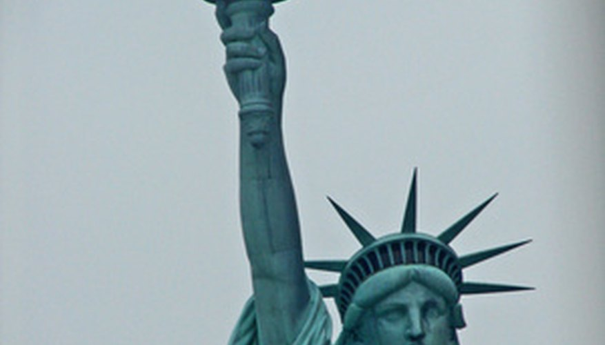 Las características físicas de la Estatua de la Libertad son intrincadas.