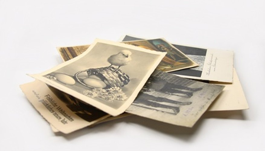 Selling antique postcards can be a profitable part-time business.