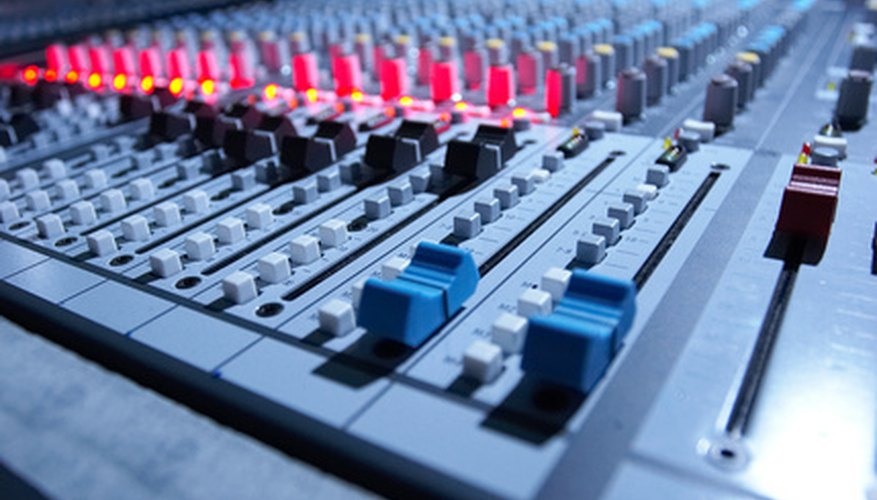 Audio mixers incorporate a variety of volume, equalization and panning tools.