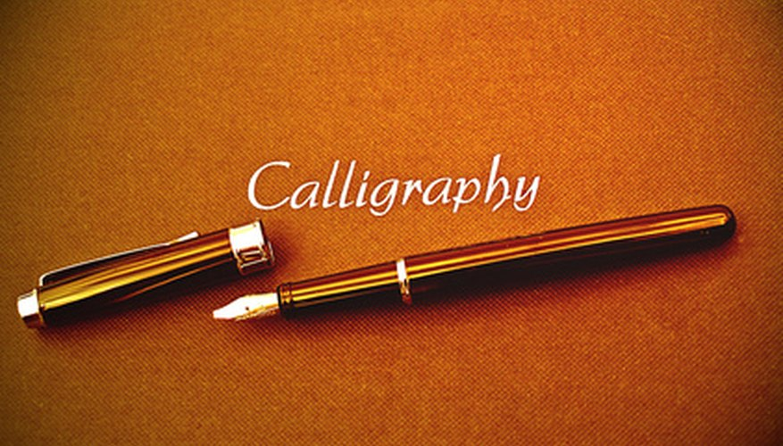 Calligraphy is the art of writing beautiful script letters.