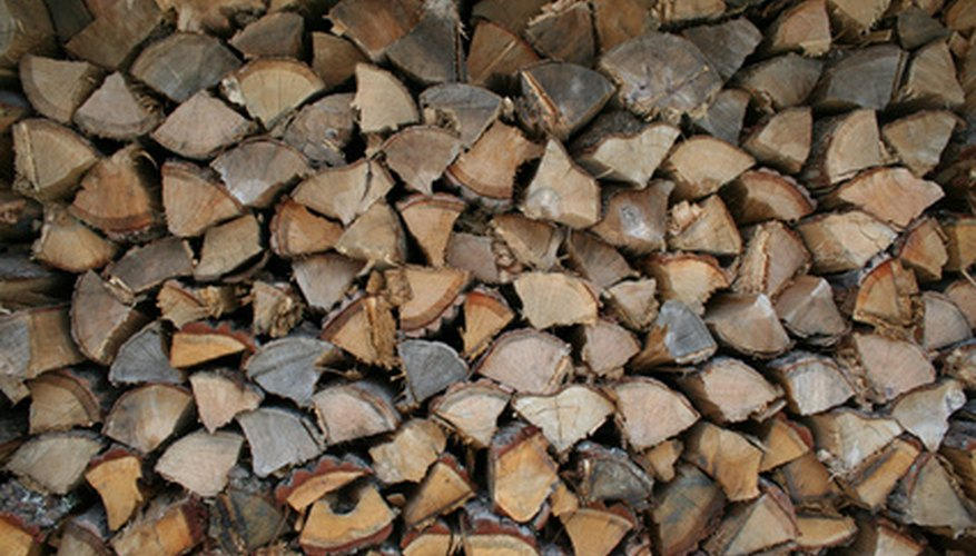 Stack firewood close to the stove and out of wet weather.