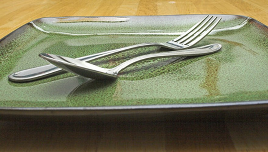 Check plates, glassware and silver for cleanliness before serving food.