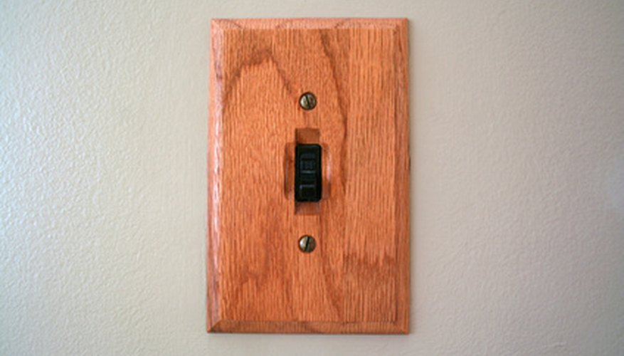 A light switch lets you know whether a circuit is open or closed.