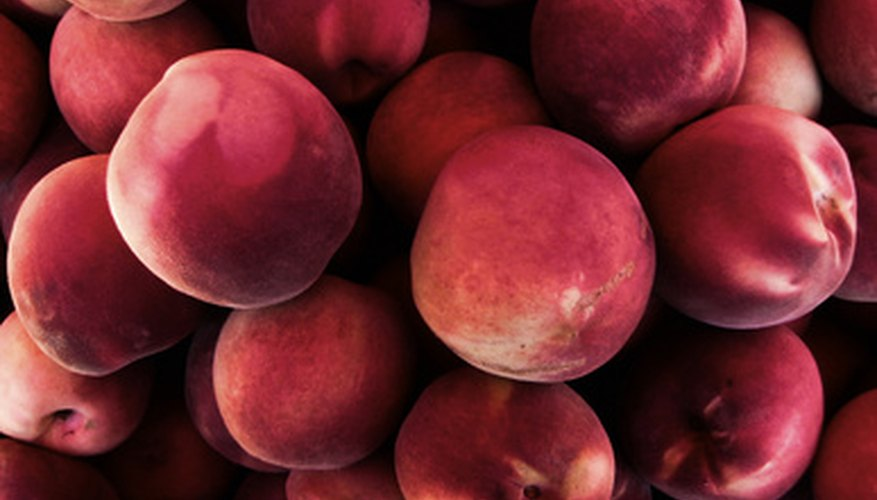 A bushel of white peaches