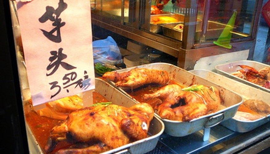 Some rotisserie restaurants serve Asian-style chicken.