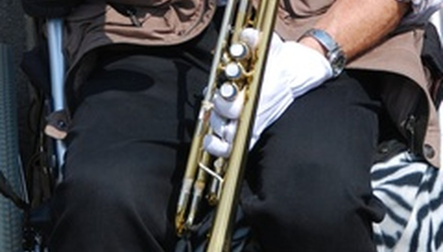 Brass bands feature every major brass instrument.