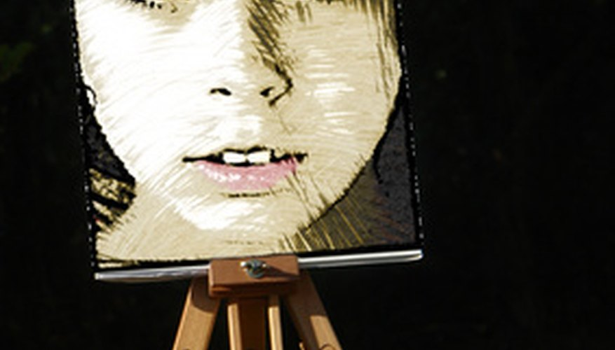 Painting a portrait requires mixing various different colors.