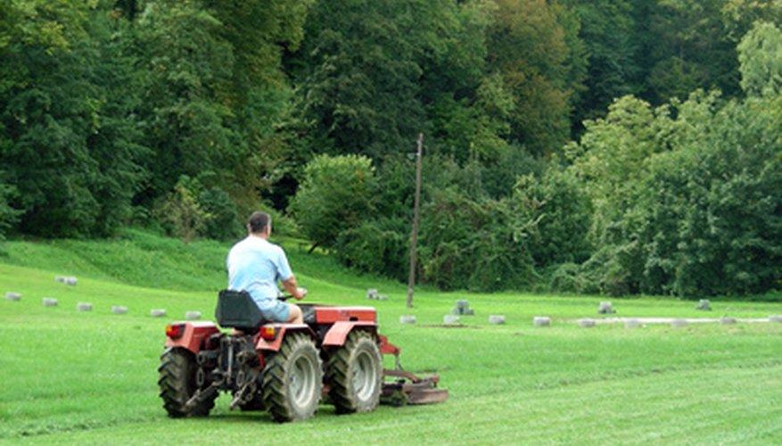 The lawn tractor offered ease of mowing and field upkeep.