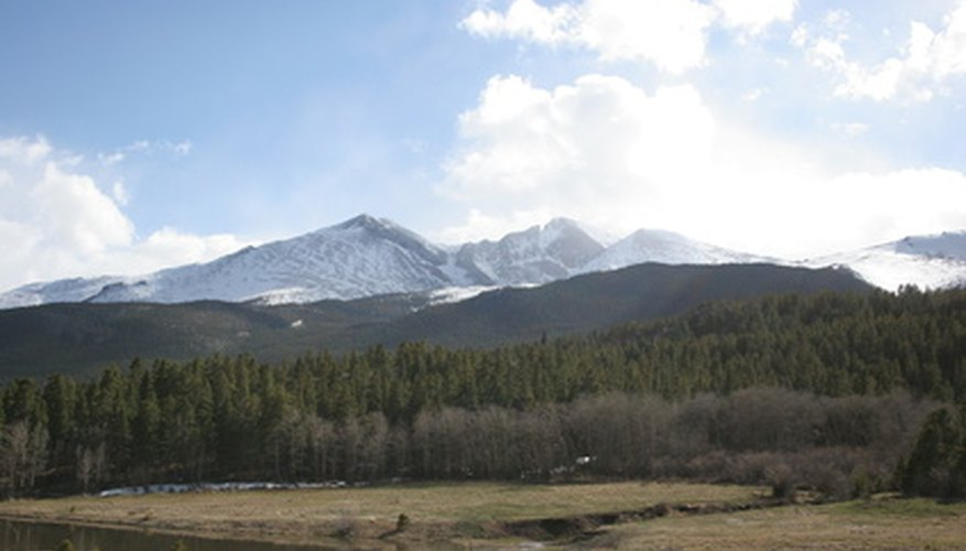 The Rocky Mountains are a popular tourist attraction for snowboarders and skiers.