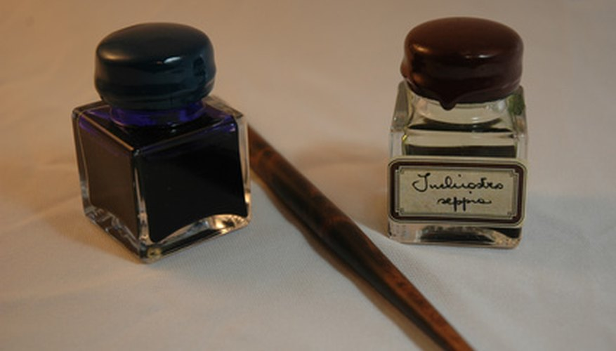 Writing ink can be made from many natural sources, such as the fruit juice of the alugbati plant.