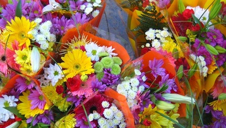 Cada tipo de flor en un arreglo florar tiene un propósito.