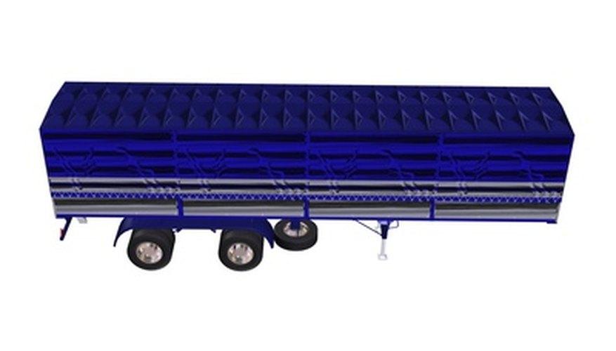 blue truck trailer