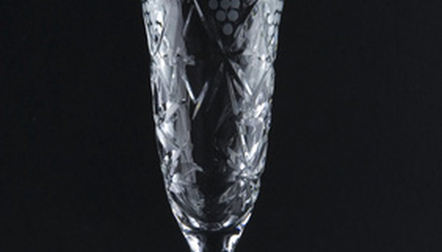 Crystal stemware has been a status symbol for many years