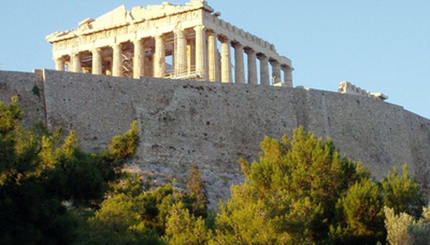 Crea un modelo del Partenón con palitos de helado.
