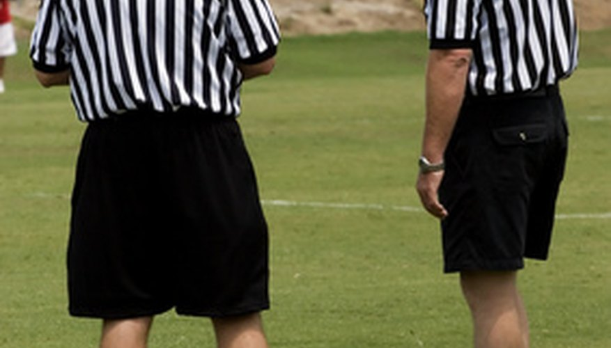 Referees make judgment calls on game play.