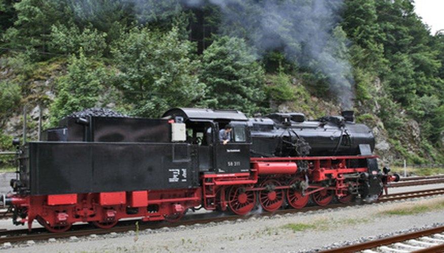 Las calderas de vapor locomotora estándar eran calderas de caja de fuego.