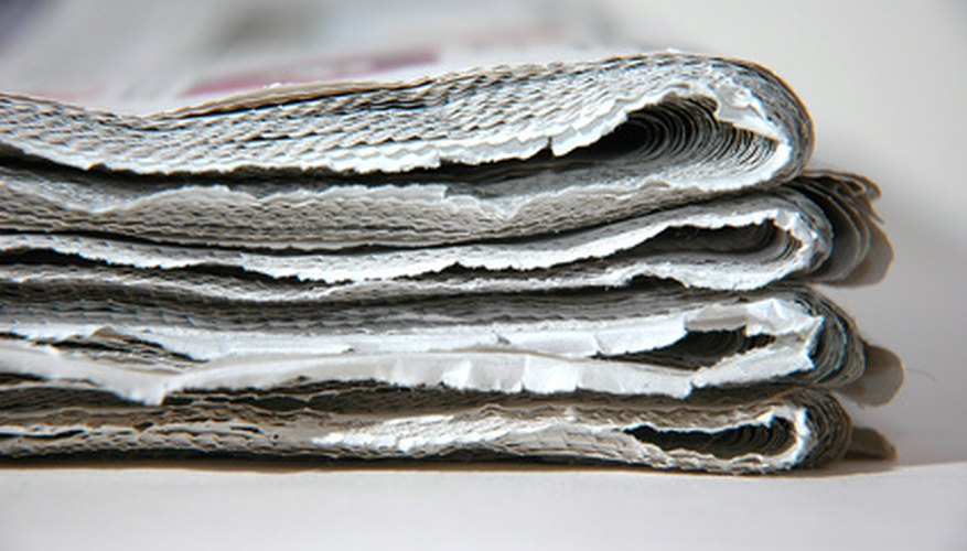 Use old newspapers for mulch