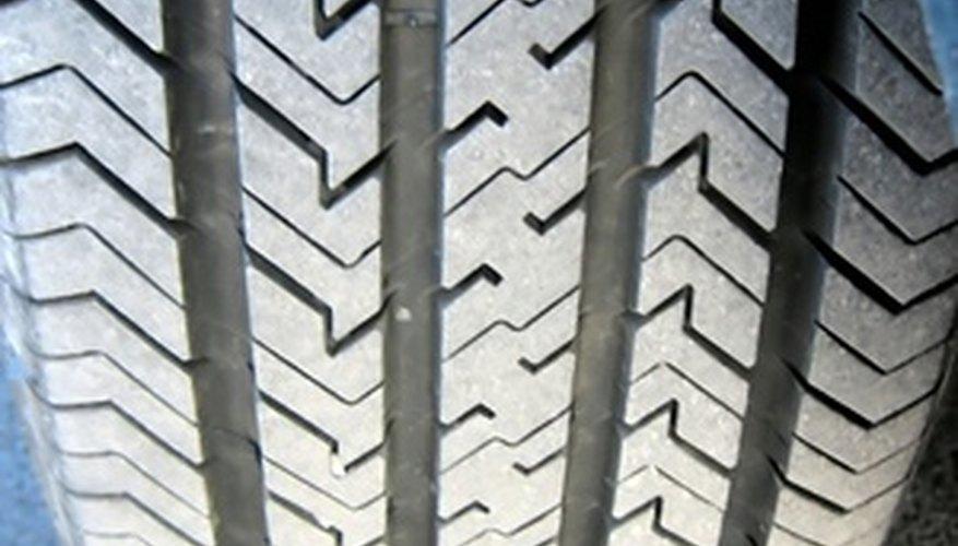 detail of a car tire
