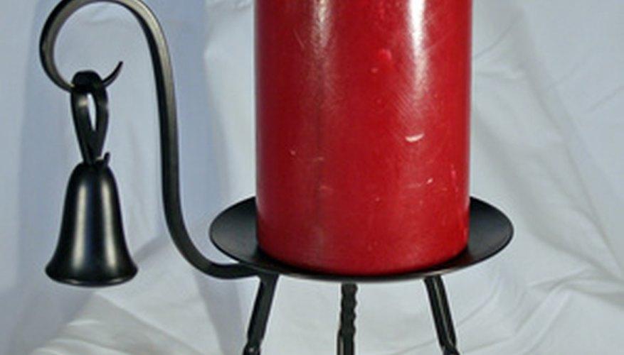 Las velas pilar ofrecen una superficie más grande que las estrechas.