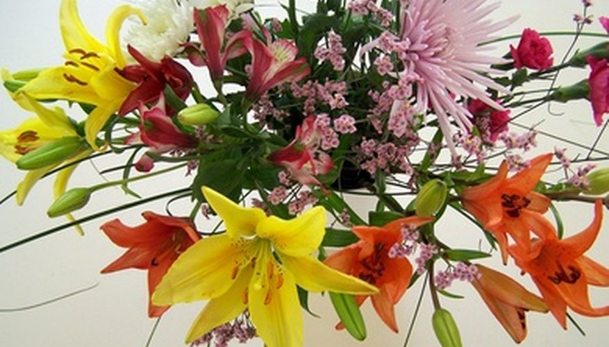 Cut flowers feature multipetal, trumpet, star and spiky blossoms.