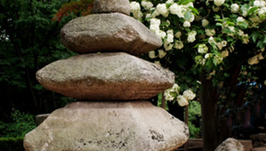 Stones are an important part of a Zen garden.