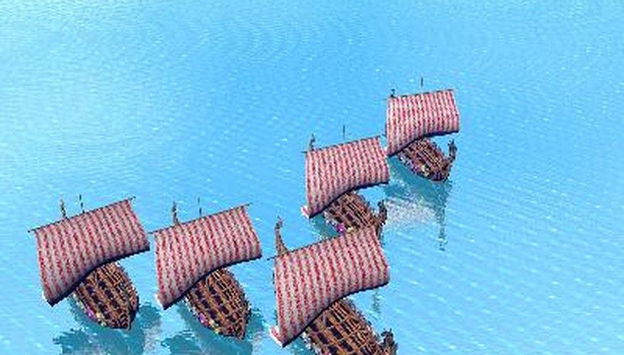 Las naves de los vikingos recorrieon  Europa.