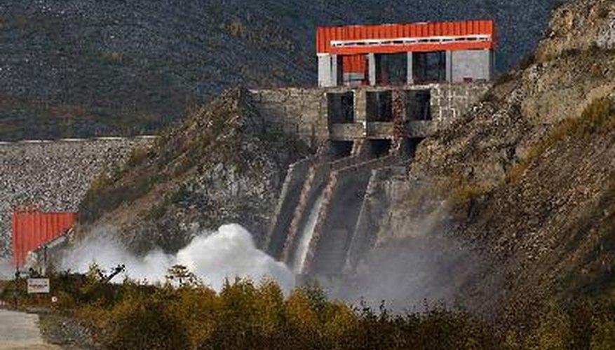 Estación de energía hidroeléctrica.