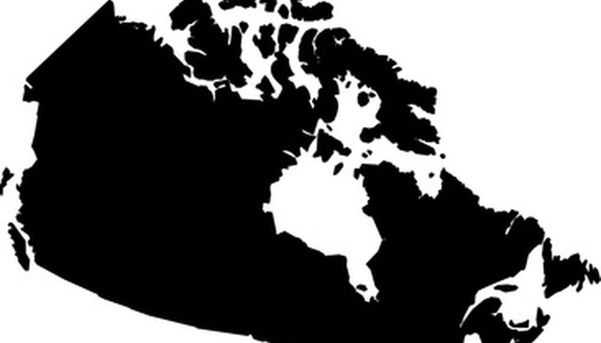 The Canadian Shield covers nearly half of Canada's land mass.