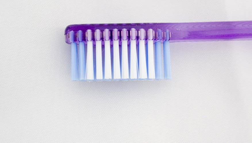 The best kind of toothbrush to use for a Bristlebot - flat and even