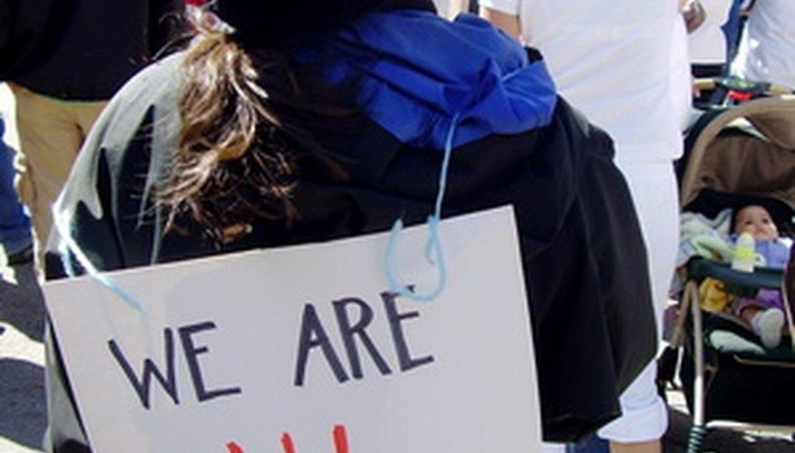Las políticas de inmigración de Estados Unidos son un tema de protesta.