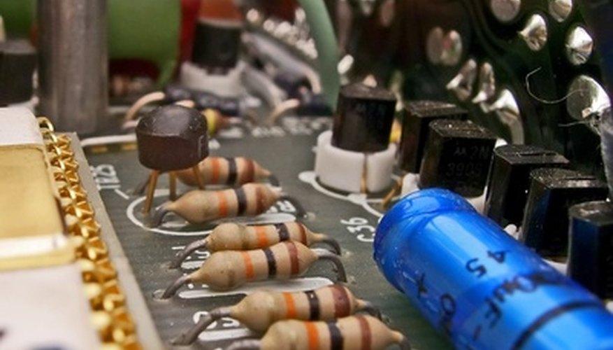 A series of in-circuit resistors