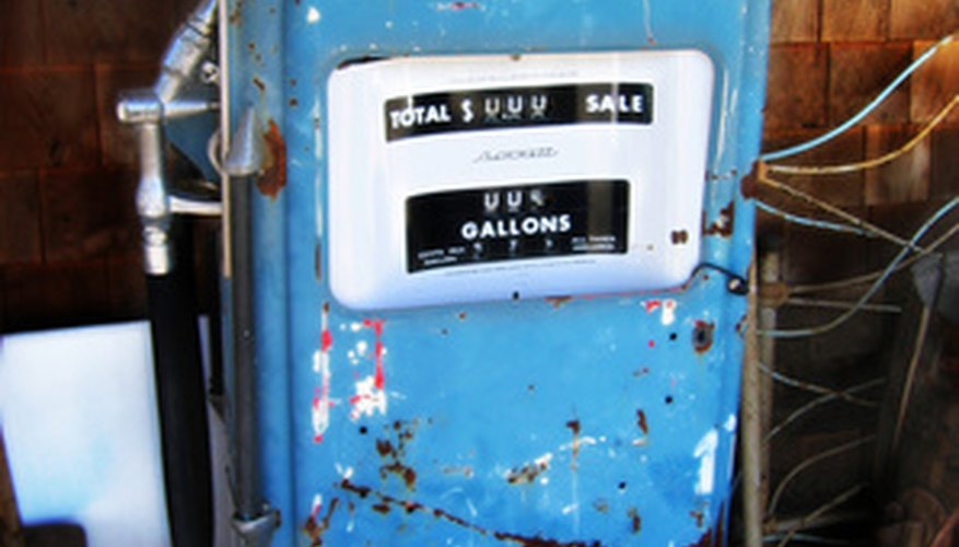 Antique gas pumps can be restored to thier former glory.