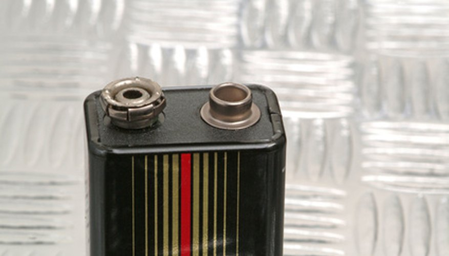 A Typical 9-Volt Battery (Note The Side-By-Side Terminals)