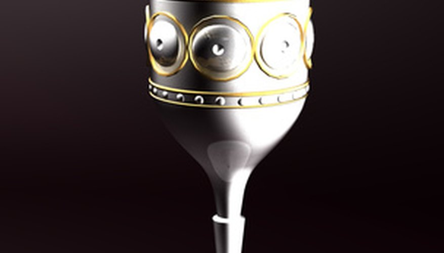 Some silver goblets have decorative features that make them valuable.