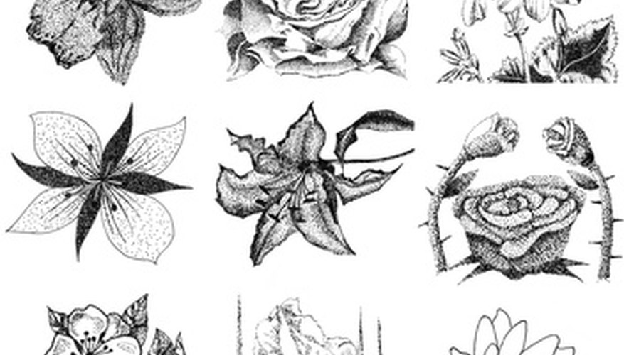 All flowers require shading and shadowing to make them look realistic.