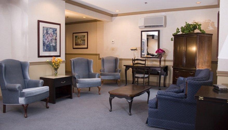 Los muebles del vestíbulo o la sala de espera son parte del presupuesto FF&E.