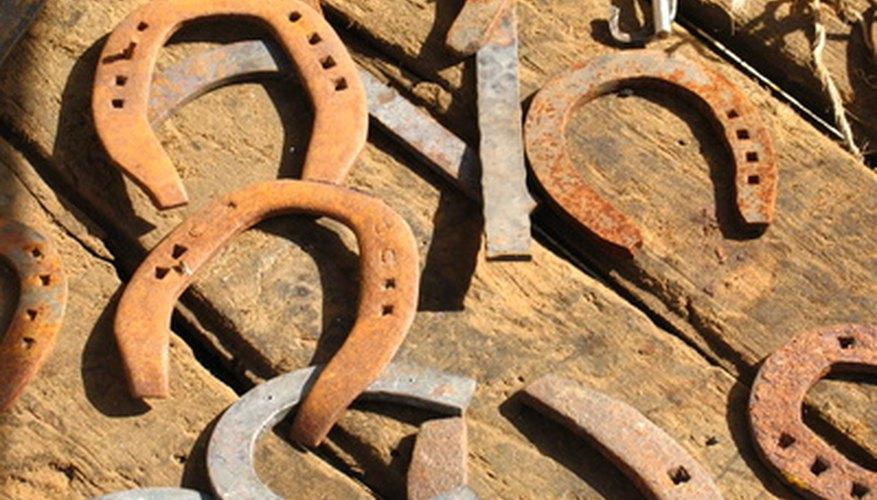 Las herraduras pueden reutilizarse para hacer artesanías.