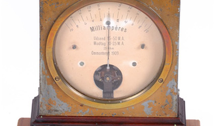 An antique ammeter.