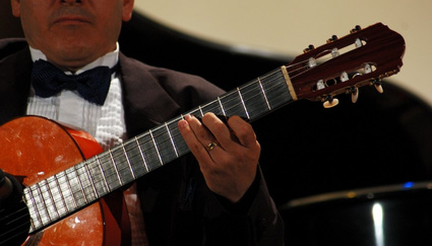 Classical guitars are meant to be strung with nylon guitar strings.
