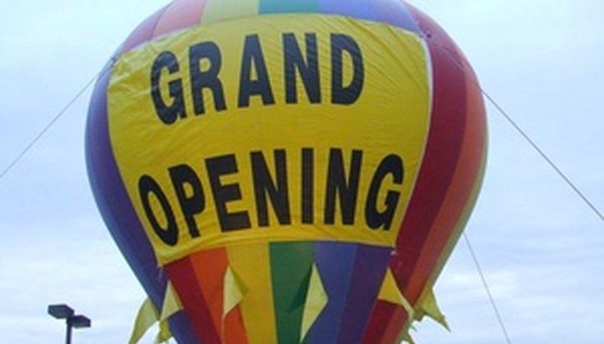 Anuncia tu gran apertura para atraer clientes.