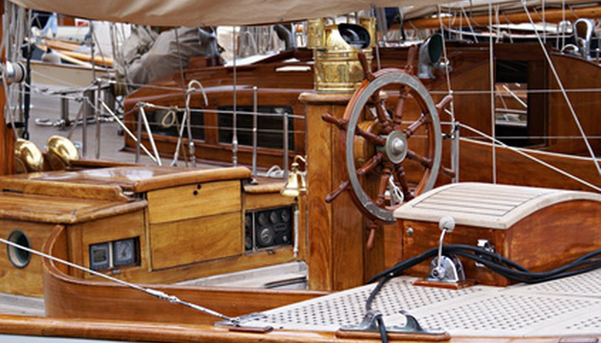 Fine yachts often feature well-maintained teak decks.