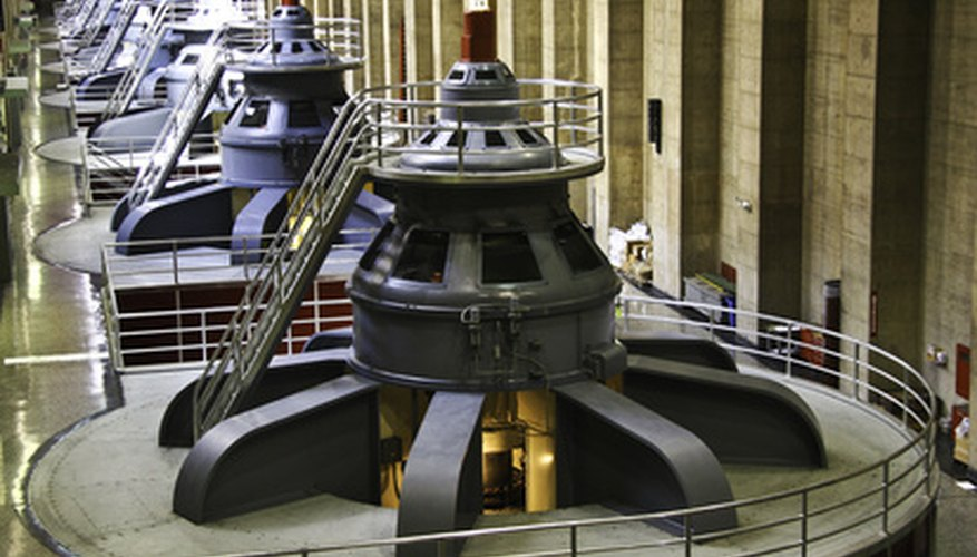 AC generators in a hydroelectric plant